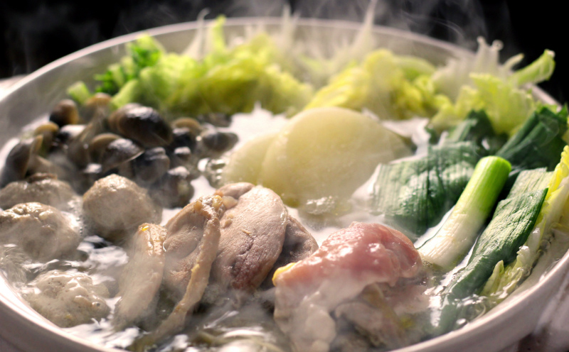 絶品きじ鍋セット。鍋にかかせない葉ニンニク付き メイン写真