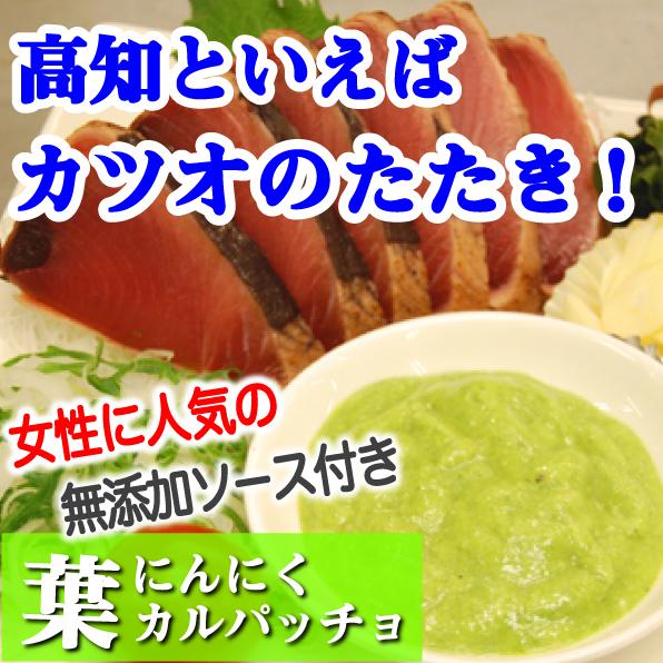 本場土佐のカツオたたきとカツオ専用葉ニンニクカルパッチョソースセット