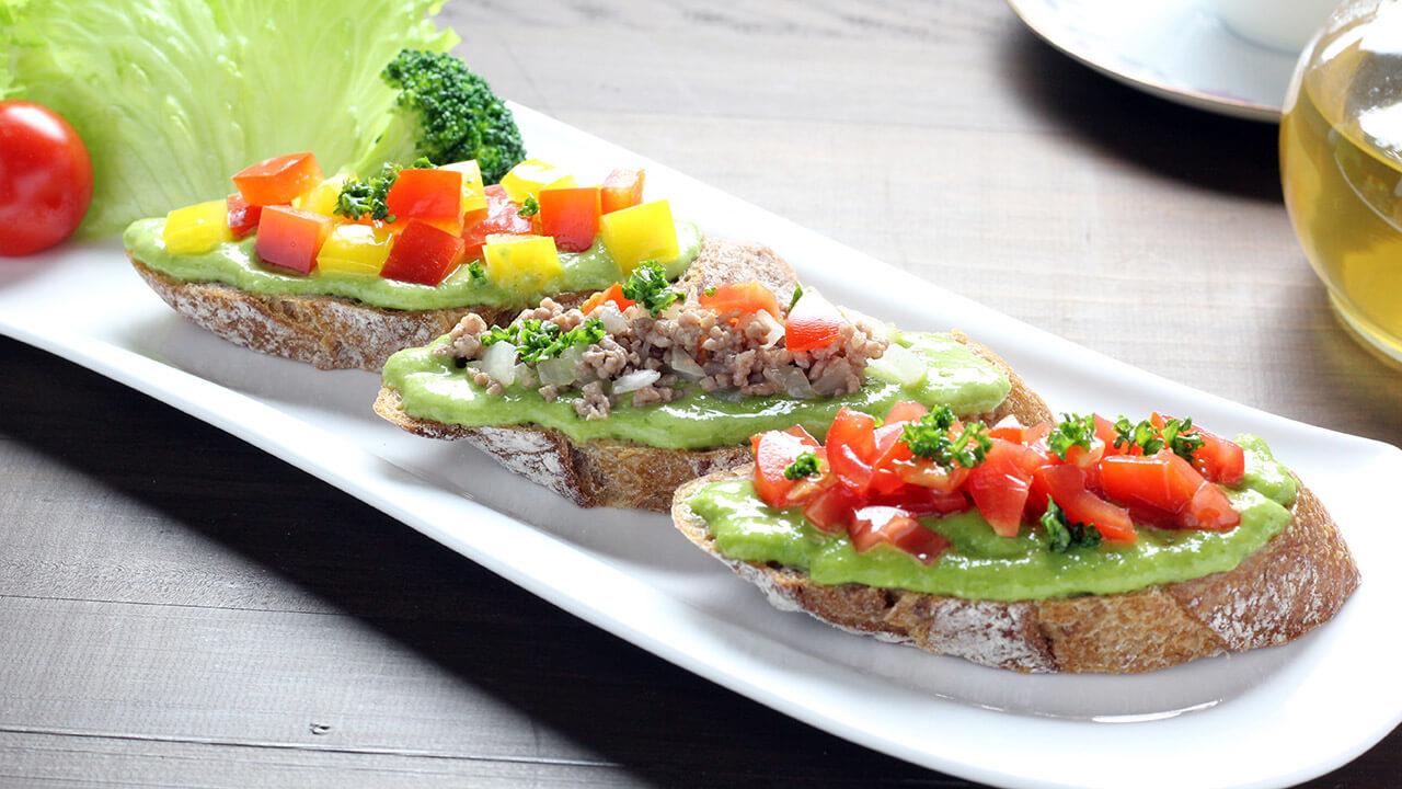 葉にんにくぬた洋風カルパッチョおいしい食べ方使用例ブルスケッタオードブルバゲットフランスパン